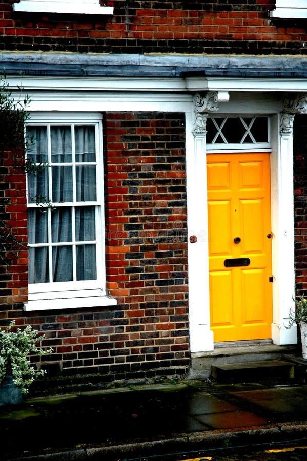 Download Yellow Door stock image. Image of facade, window, trim - 645403