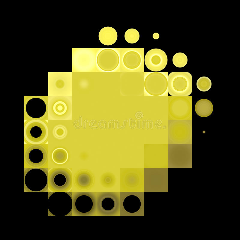 Yellow dots stock photography