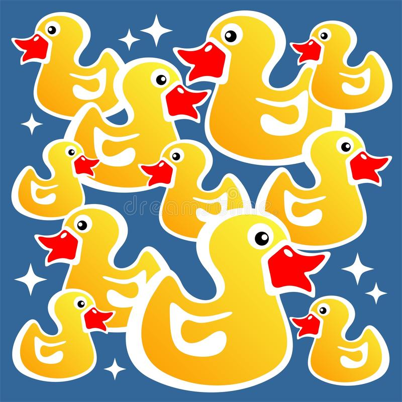 Download Yellow ducks background stock vector. Image of artistic - 10996795