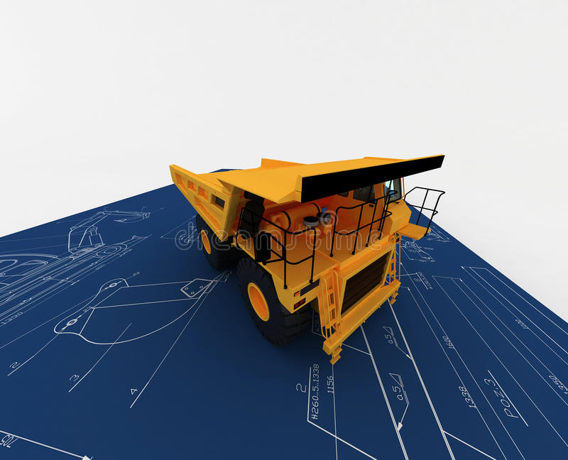 Download Yellow Dump And Blue Sketch Stock Illustration - Image: 11776537