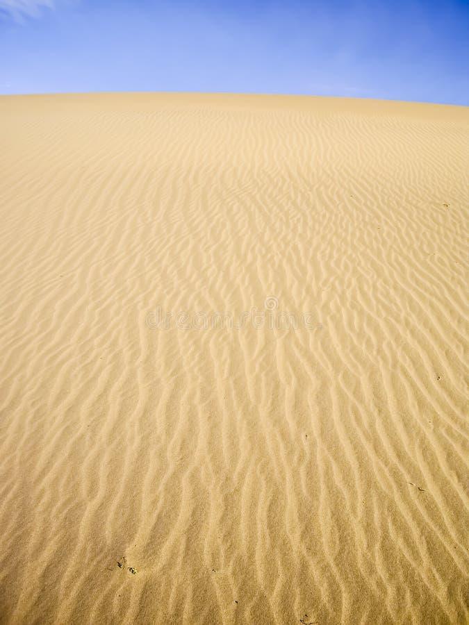 Yellow Dunes On Blue Sky Stock Photo