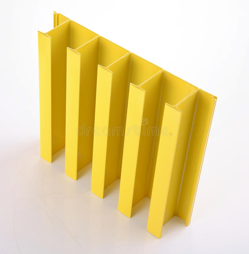 Yellow duralumin assembly stock image