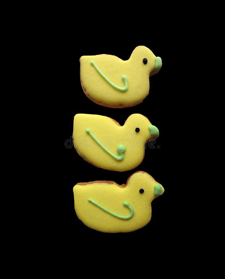 Yellow Easter Cookies stock images