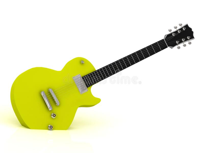 Download Yellow electric guitar stock illustration. Image of music - 26730185