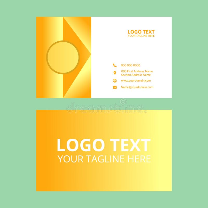 Yellow  Awesome Business Card Template stock illustration