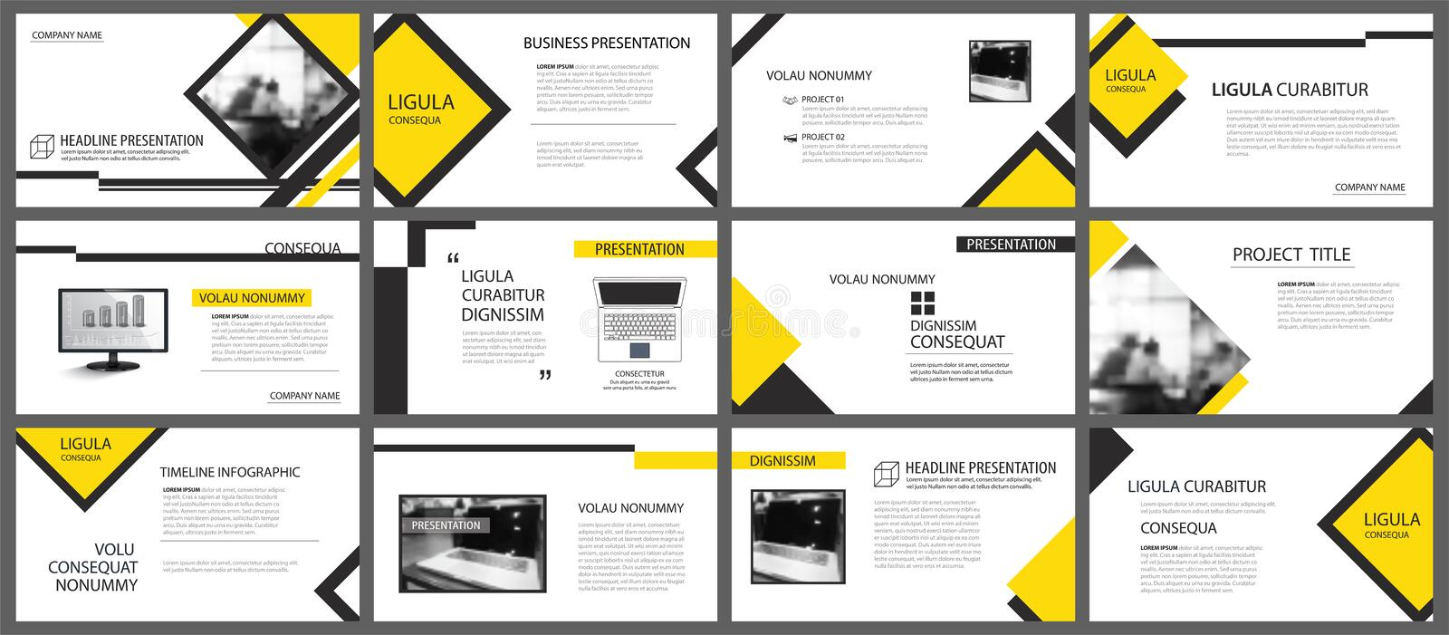 Yellow element for slide infographic on background. Presentation. Template. Use for business annual report, flyer, corporate marketing, leaflet, advertising vector illustration