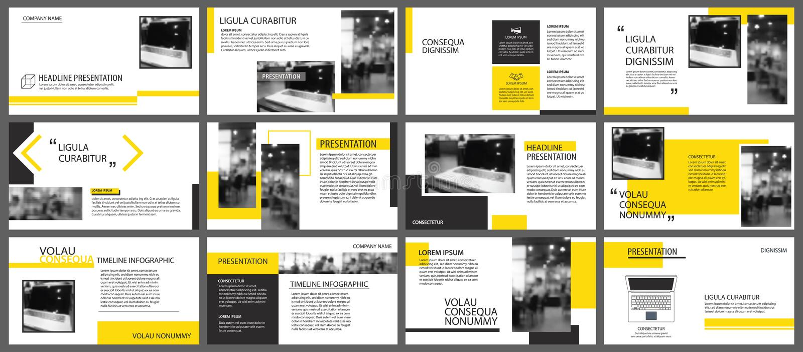 Yellow element for slide infographic on background. Presentation. Template. Use for business annual report, flyer, corporate marketing, leaflet, advertising stock illustration