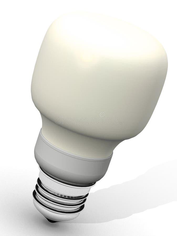 Yellow energy saver light bulb stock images