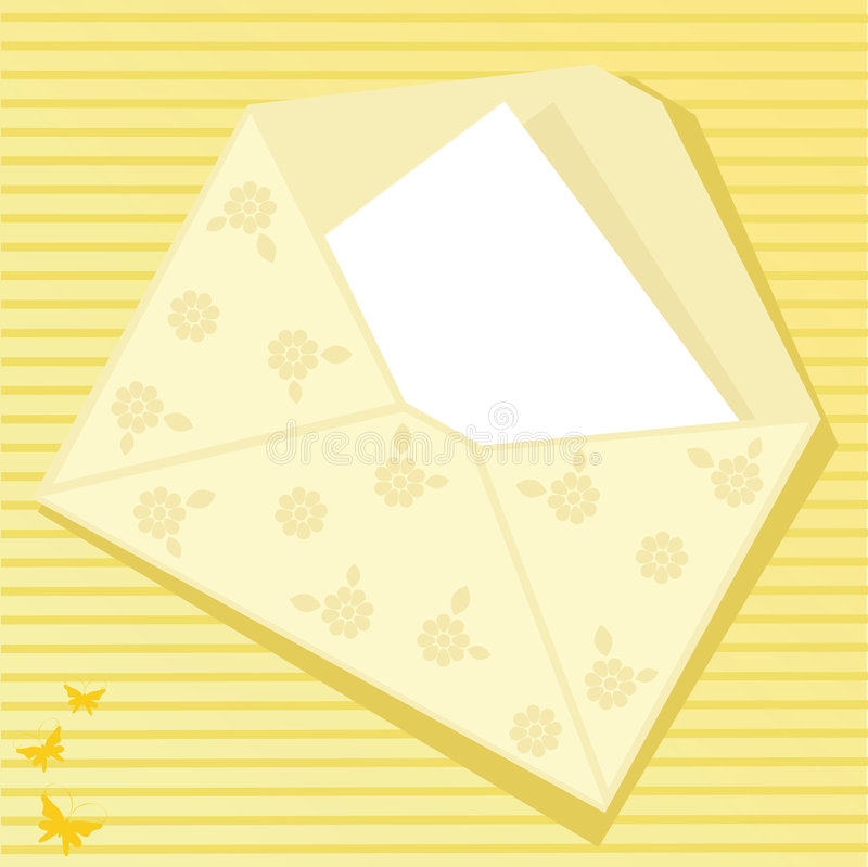Download Yellow envelope stock vector. Image of connection, communication - 9098092