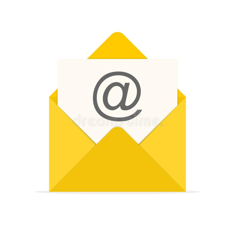 Free Yellow Envelope Icon. Vector Illustration Stock Images - 107777464
