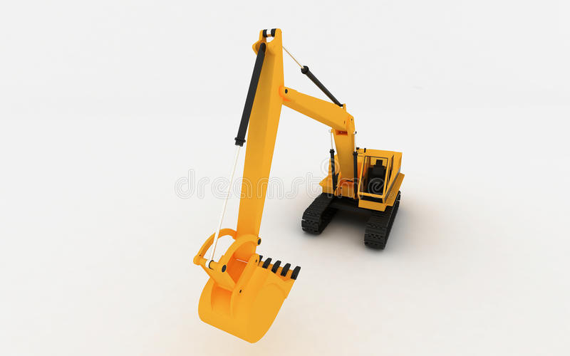 Download Yellow excavator stock illustration. Image of vehicle - 11776589