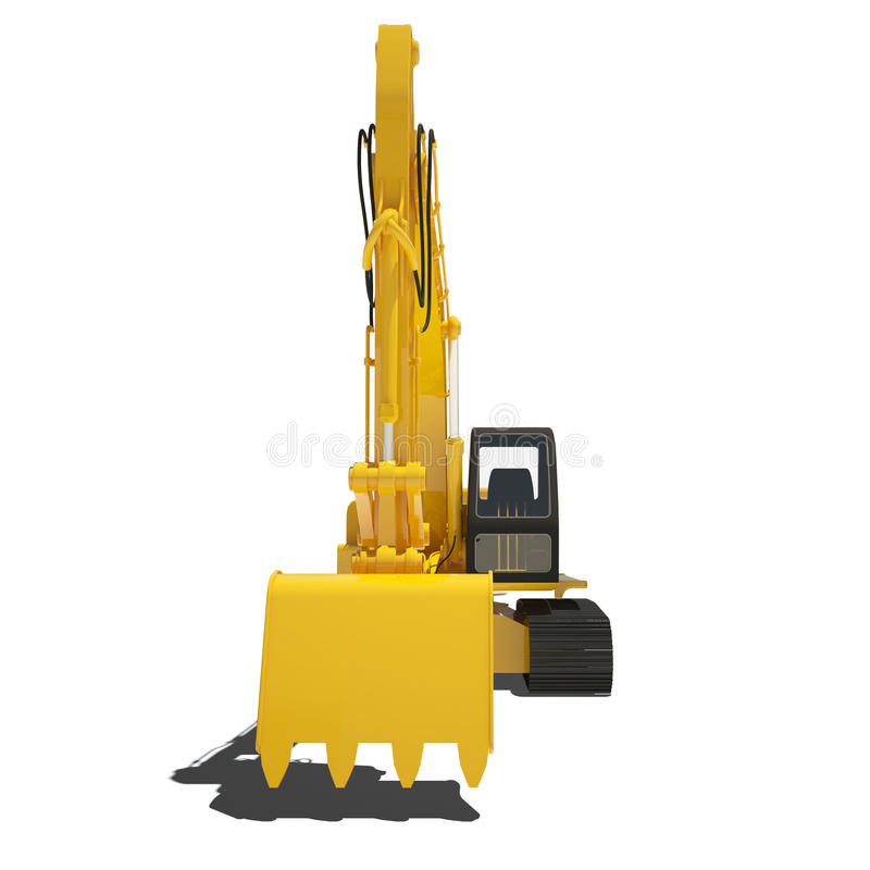 Download Yellow Excavator Isolated stock illustration. Image of clipping - 34022860