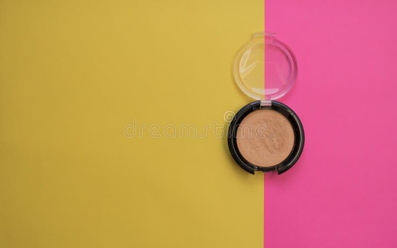 Eyeshadow, yellow eyeshadow, bright background stock image