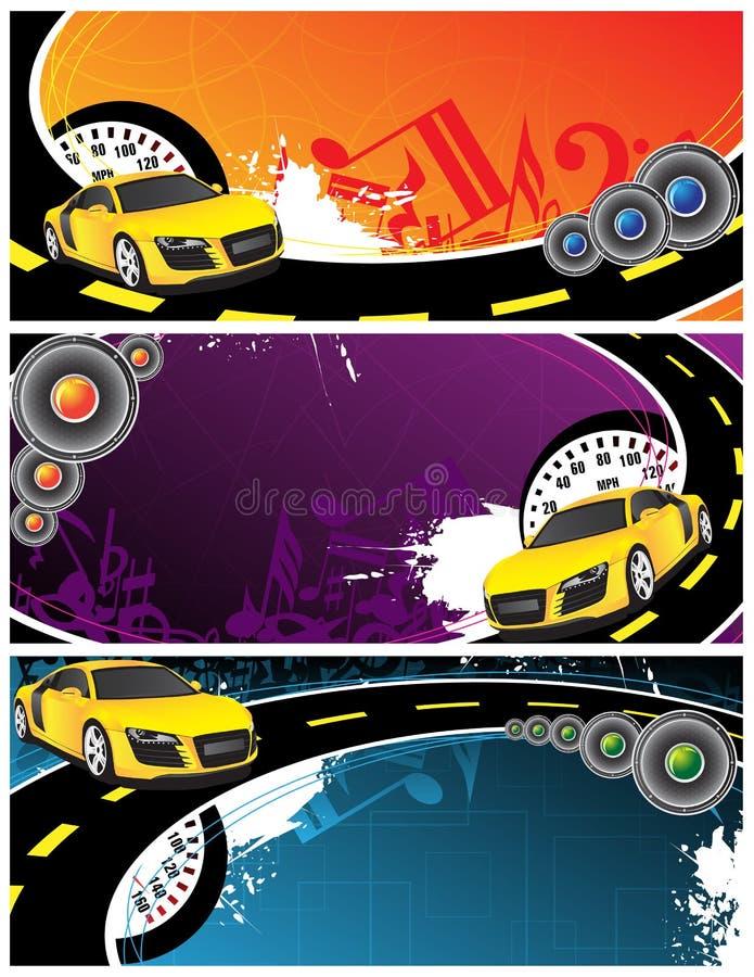 yellow för bakgrundsbilmusik vektor illustrationer