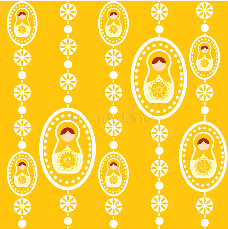 yellow för dockarysswallpaper vektor illustrationer