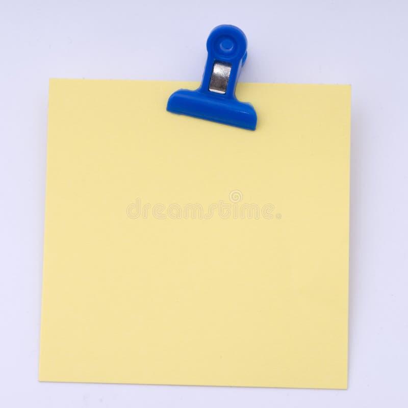 yellow för gemanmärkningspapper royaltyfria bilder