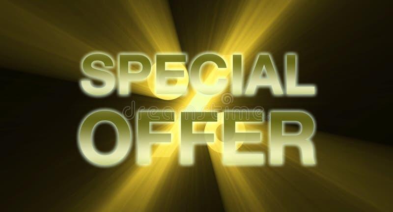 yellow för guld- erbjudande för baner special stock illustrationer