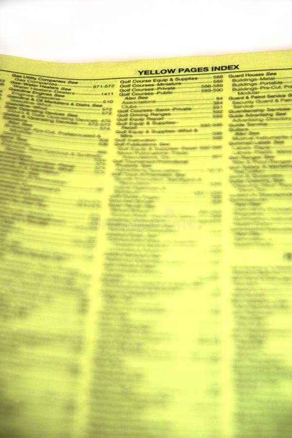 yellow för indexsidor royaltyfria bilder