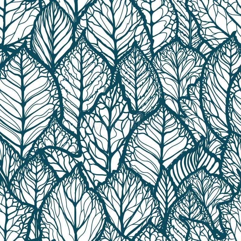 yellow för modell för hjärta för blommor för fjärilsdroppe blom- Hand-drog dekorativa sidor Sömlös bakgrundsvektorillustration vektor illustrationer