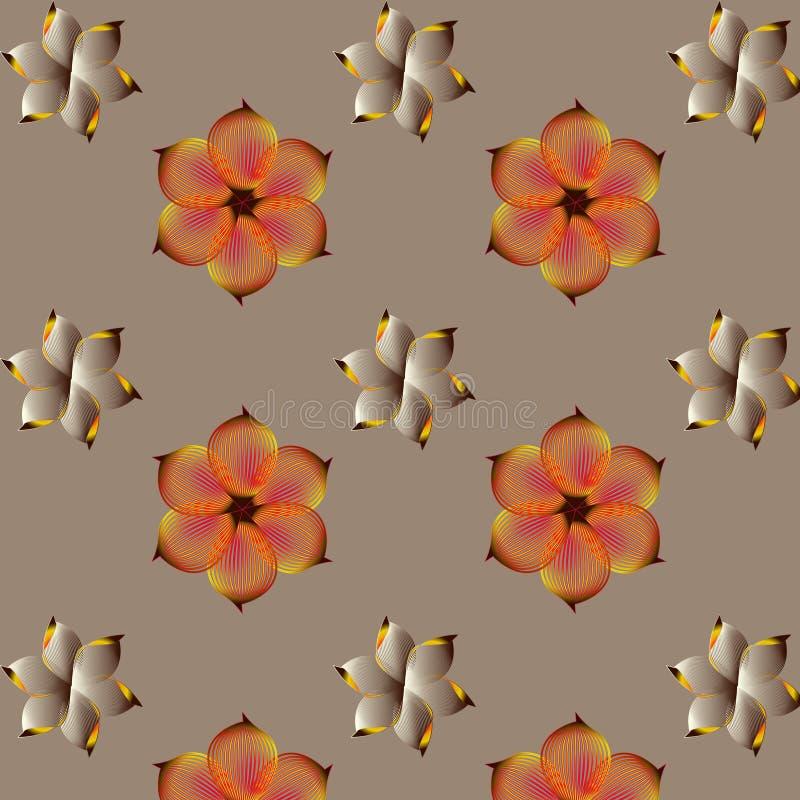 yellow för modell för hjärta för blommor för fjärilsdroppe blom- stock illustrationer