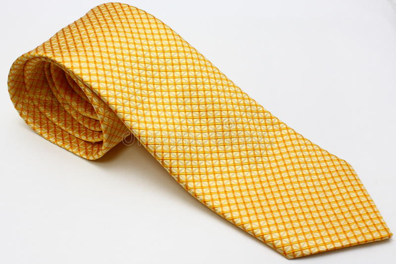 yellow för silk tie arkivfoto