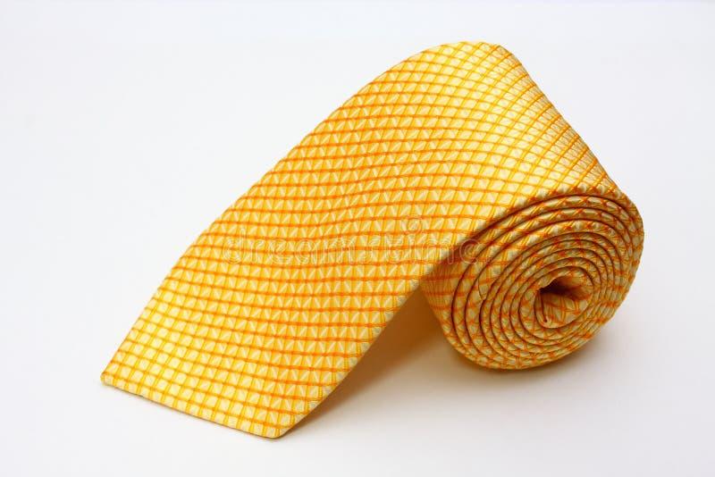 yellow för silk tie royaltyfria bilder
