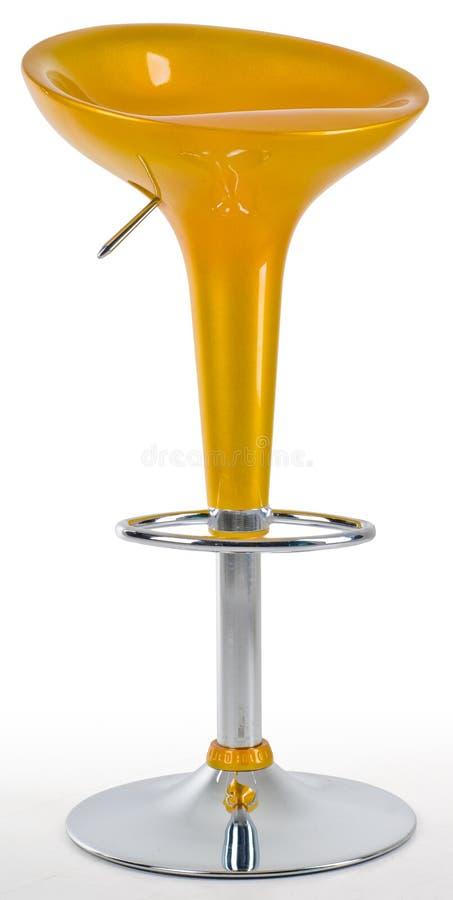 yellow för stångstol royaltyfri foto