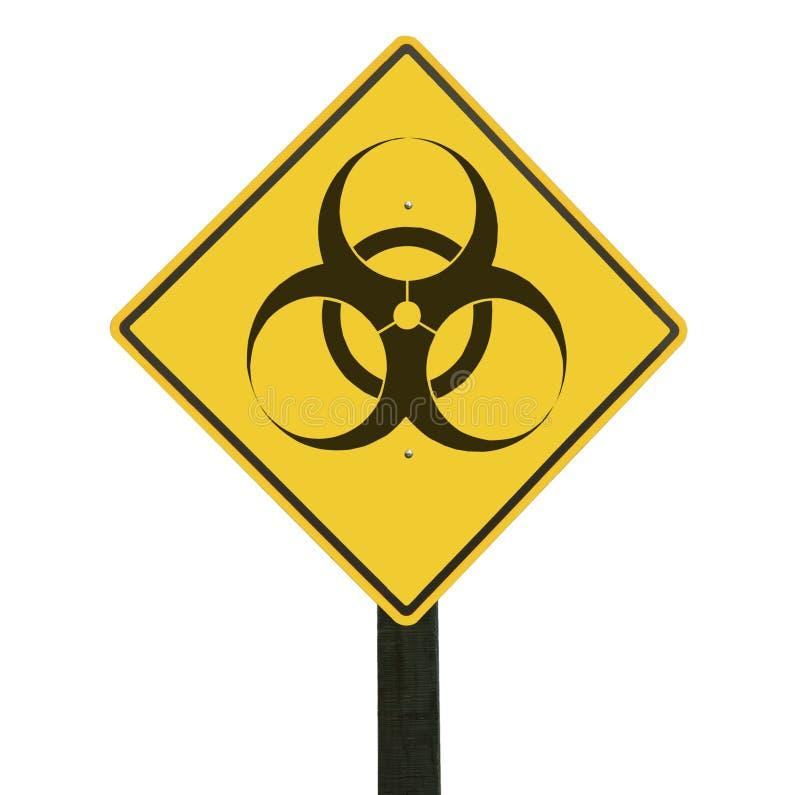 yellow för trafik för biohazardteckensymbol fotografering för bildbyråer