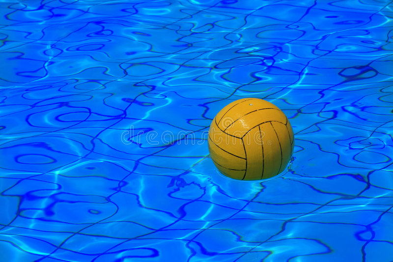 yellow för vatten för bakgrundsbollpolo royaltyfri foto