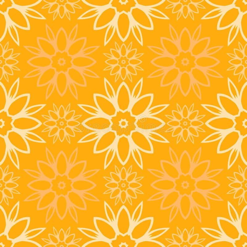 yellow för vektor för illustrationmodell seamless Geometriska abstrakta former av färger textur Bakgrund royaltyfri illustrationer