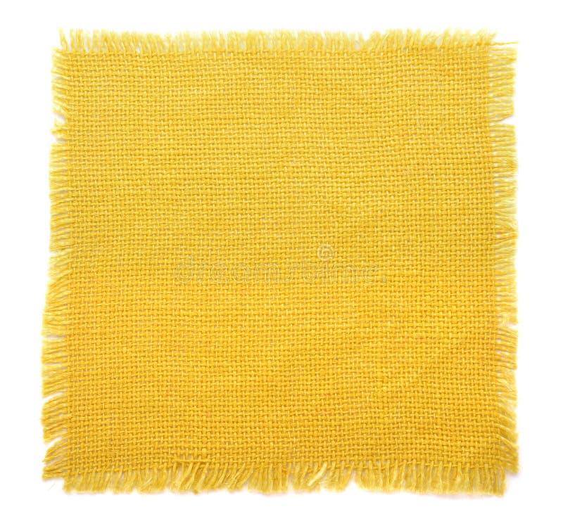 Yellow fabric sack stock photos