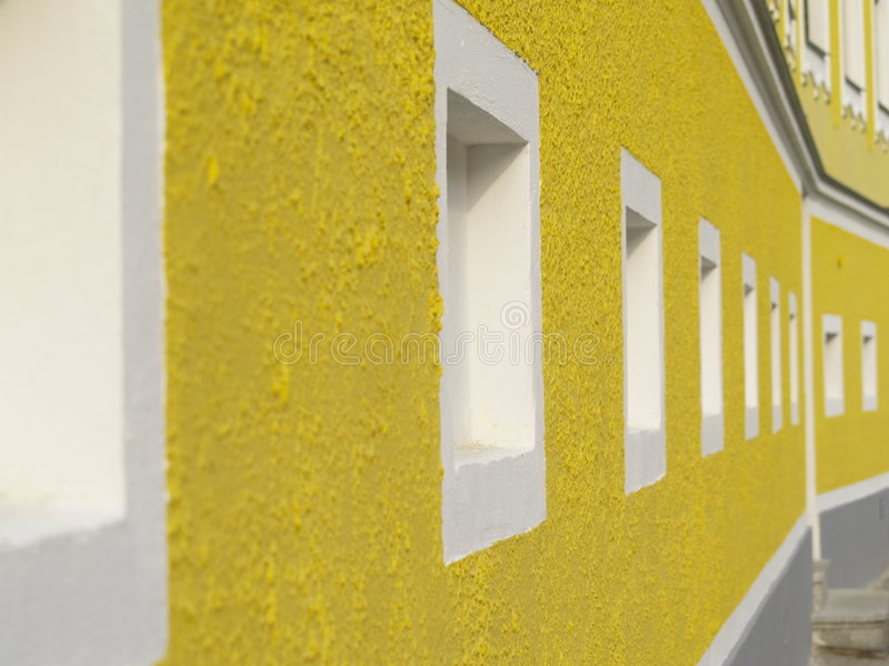 Yellow facade stock photography