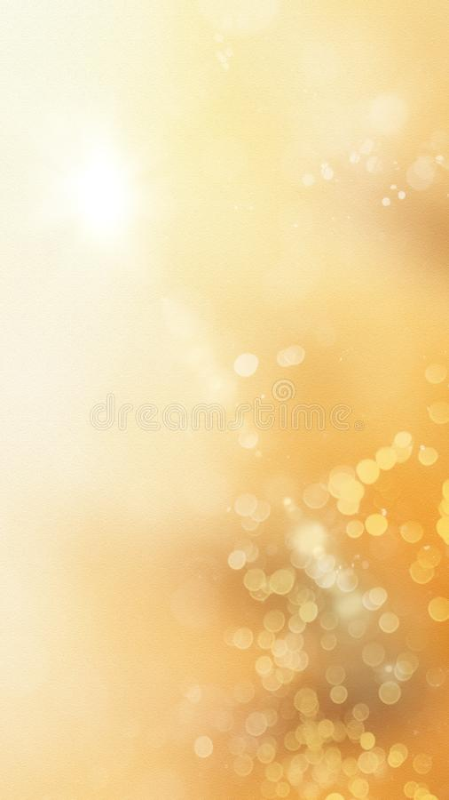 Yellow Fall Color Sparkling Vertical Background. Sparkling Fall Autumn Color Bright Shining Yellow White Background Vertical Banner Template royalty free illustration