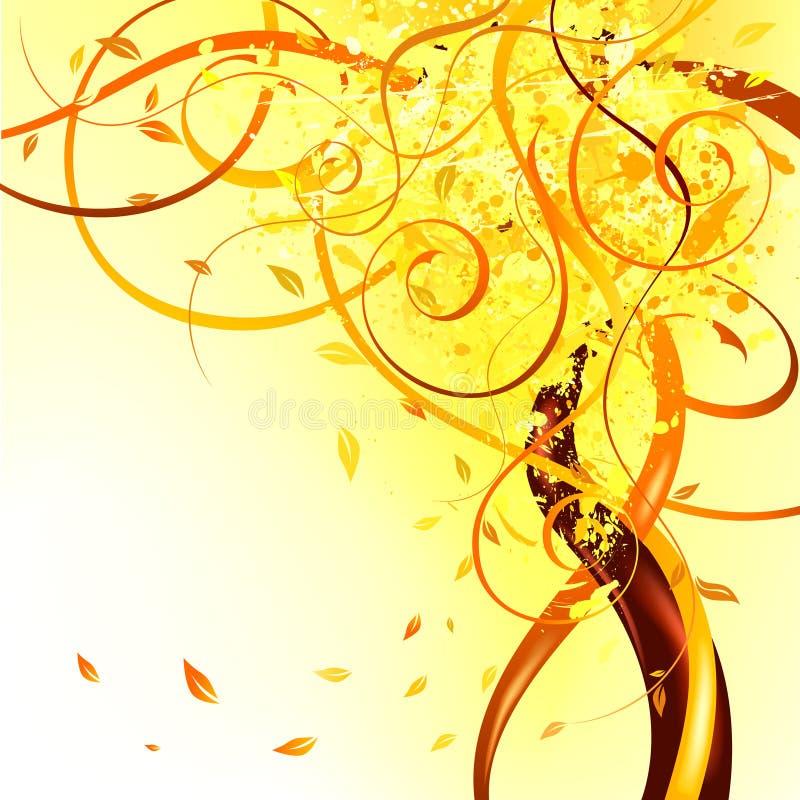 Yellow_falling_leaves ελεύθερη απεικόνιση δικαιώματος
