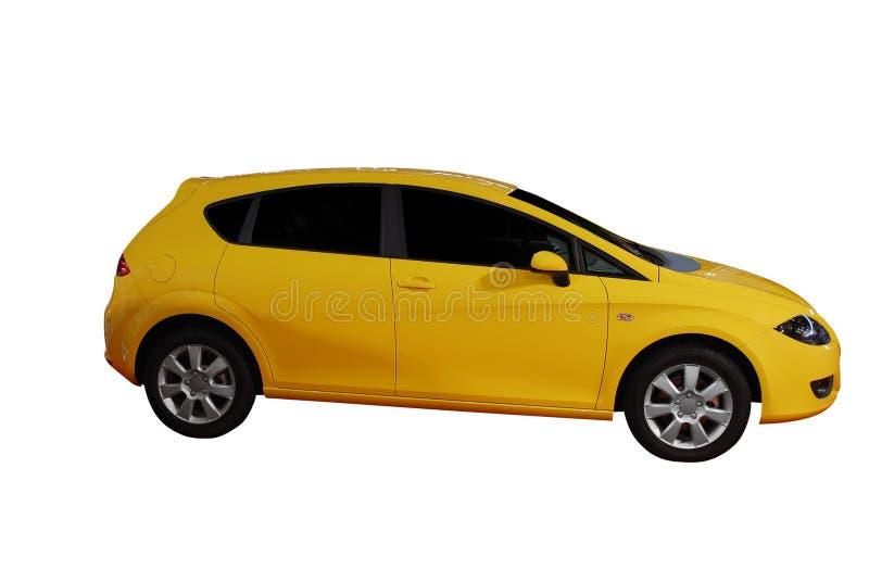 Yellow fast car stock photo