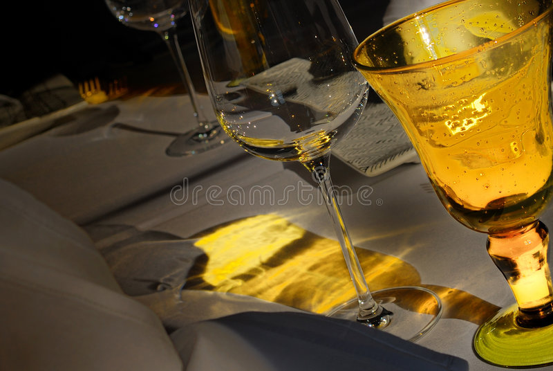 Download Yellow Festive Table Set Royalty Free Stock Images - Image: 2000049
