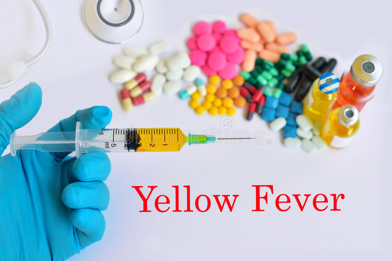 Yellow fever treatment stock photography