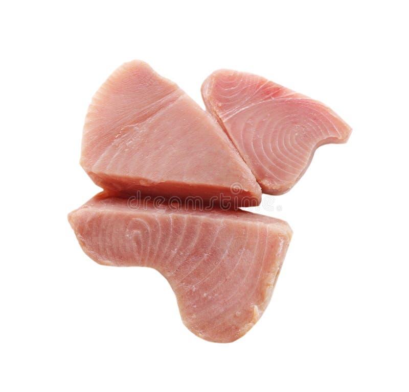 Yellow fin tuna fish steak royalty free stock photography