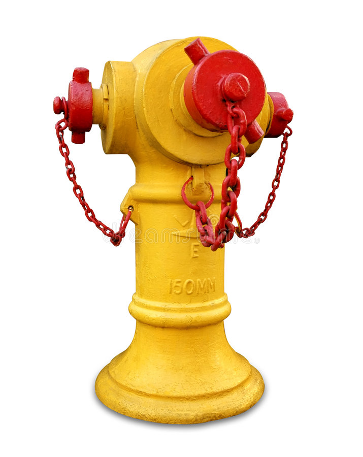 Yellow Fire hydrant isolated stock photography