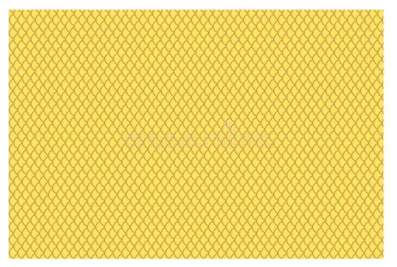 Yellow Fish Scales vector illustration