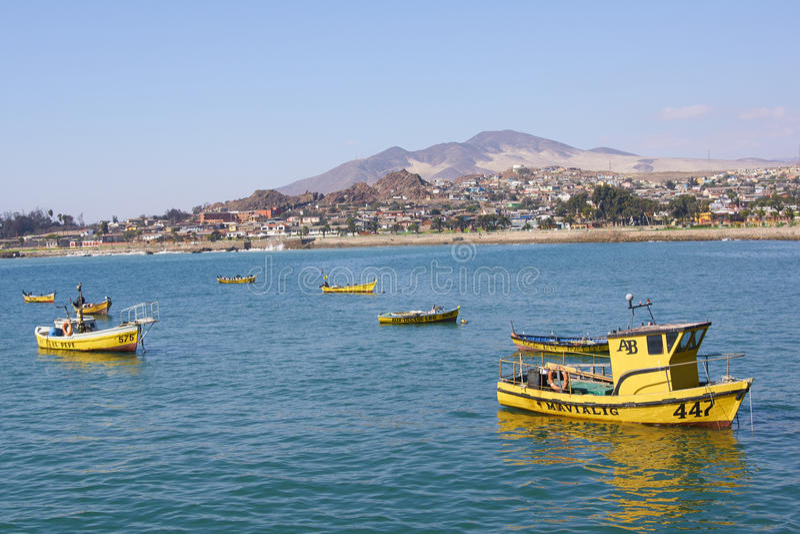 Yellow Fishing Boats royalty free stock photo