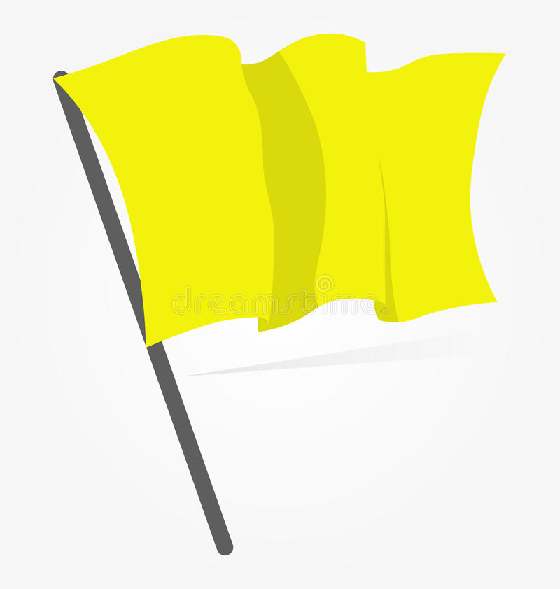 Yellow flag icon isolated on white background. Vector illustration, sport equipment. vector illustration