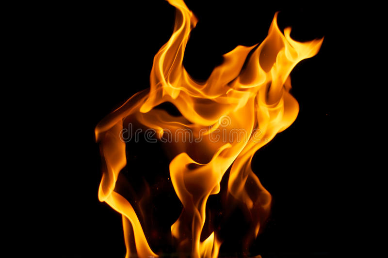 Download Yellow Flames on Black stock image. Image of glowing - 27858637