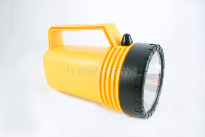 Yellow Flashlight Stock Photography