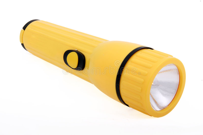 Download Yellow flashlight stock image. Image of electric, background - 8329033