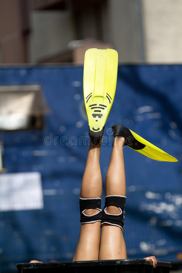 Download Yellow flippers editorial stock photo. Image of anonymous - 26623018