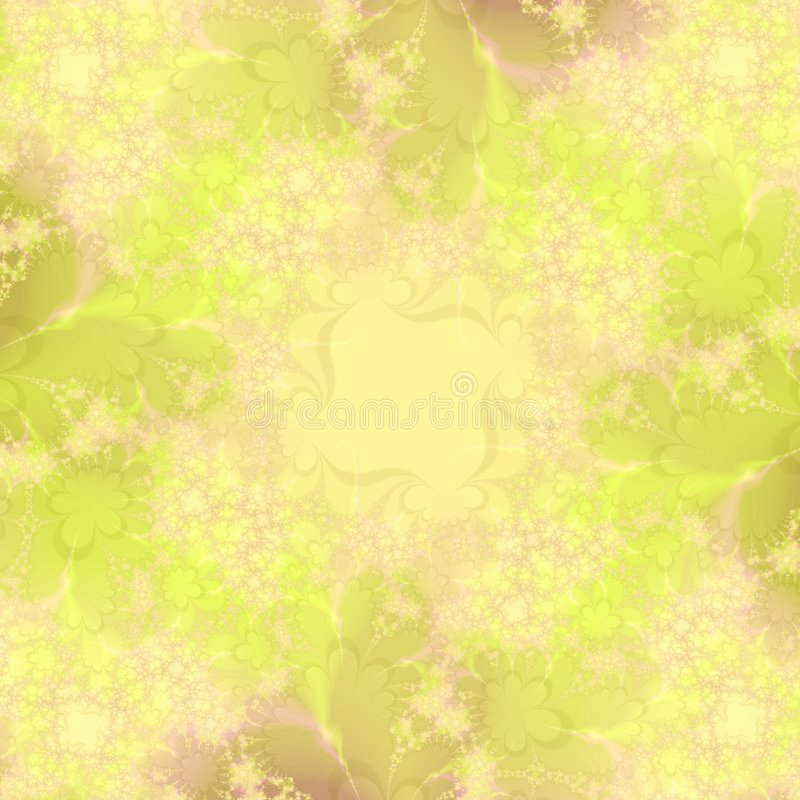 Yellow floral abstract background design template royalty free stock photo