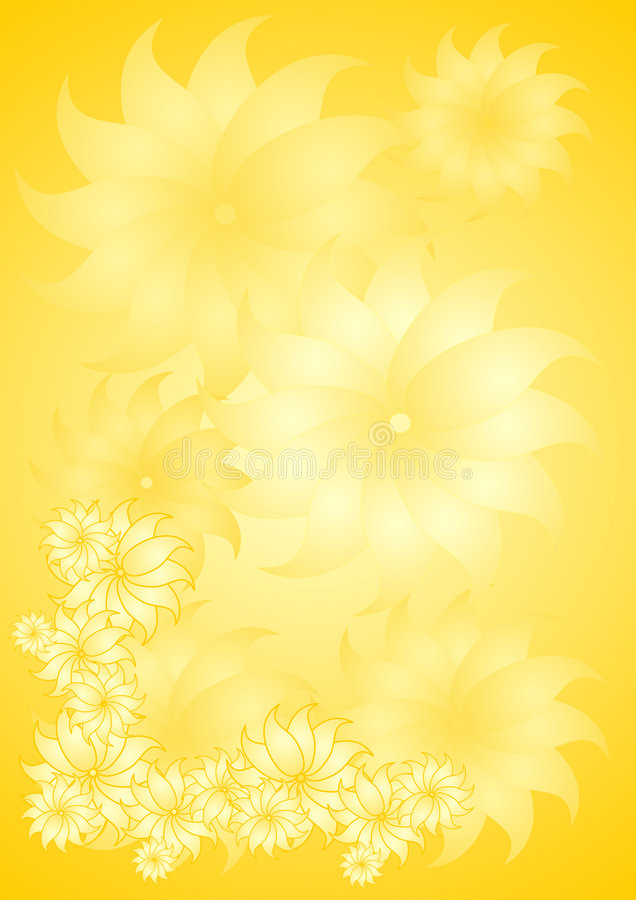 Yellow floral background stock illustration