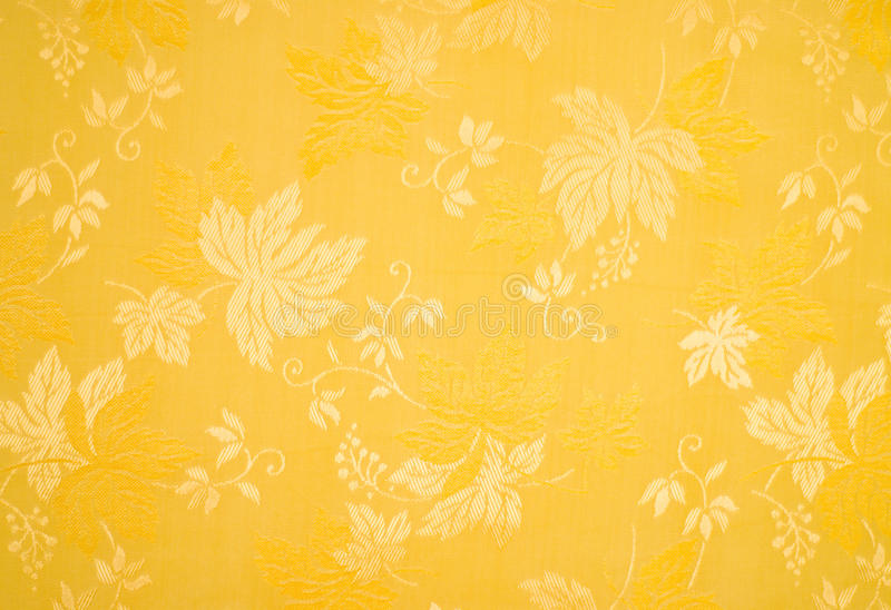 Yellow floral pattern. Close-up stock image