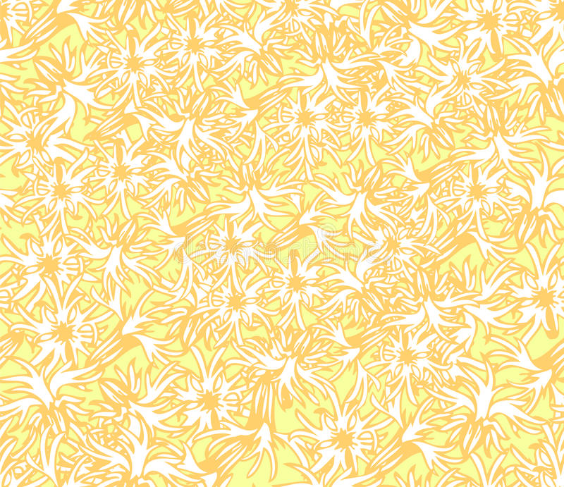 Download Yellow Floral Wallpaper Stock Illustration Of Foliage